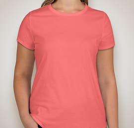 GAP Ladies Vintage Wash Crewneck with Curved Hem - Color: New Pink Kiss