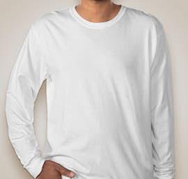 Comfort Colors 100% Cotton Long Sleeve Shirt - Color: White