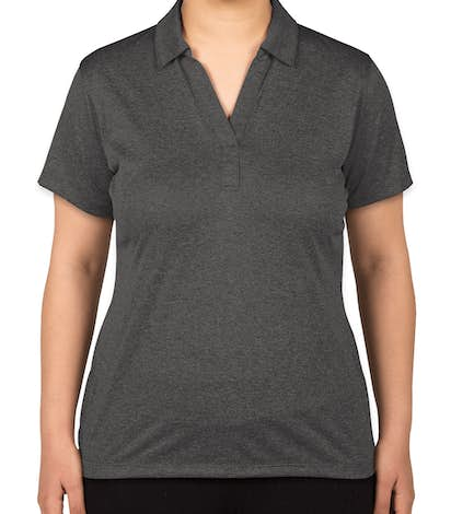 Sport-Tek Ladies Heather Performance Polo - Screen Printed - Graphite Heather