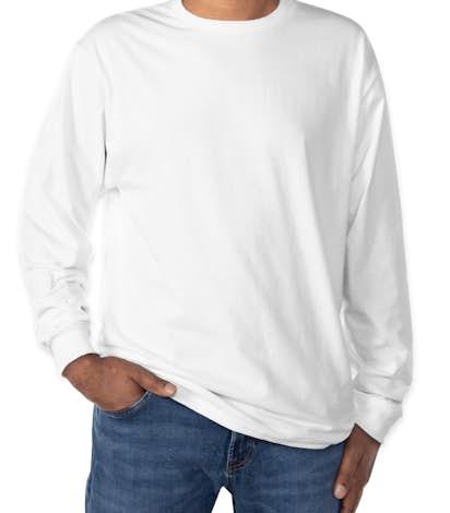 Hanes ComfortSoft® Long Sleeve Tagless T-shirt - White