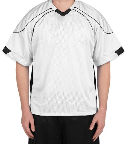 Teamwork Cross Check Lacrosse Jersey - White / Black