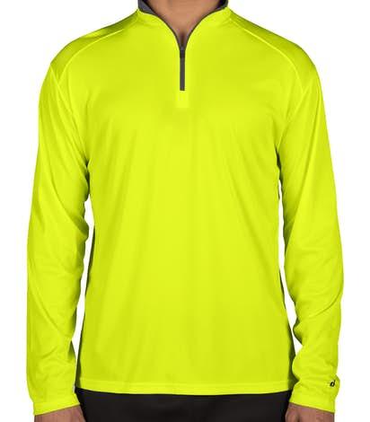 Design Badger Performance Contrast 1 4 Zip Pullovers