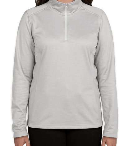 The North Face Ladies Tech Quarter Zip Fleece Pullover - Light Grey Heather