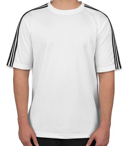Adidas Three Stripe Performance Shirt - White / Black