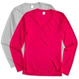 Sport-Tek Ladies Long Sleeve V-Neck Competitor Shirt