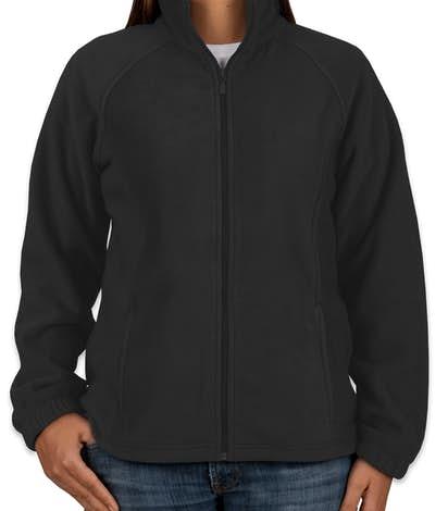 Harriton Ladies Full Zip Fleece Jacket - Black