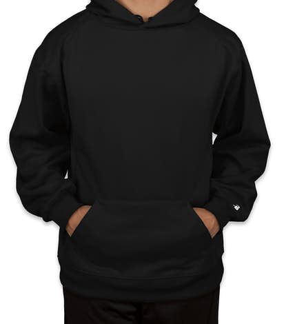 Badger Performance Pullover Hoodie - Black