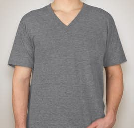 American Apparel Tri-Blend V-Neck T-shirt - Color: Athletic Grey