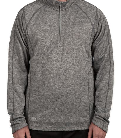 Ogio Endurance Reflective Heather Performance Quarter Zip Pullover - Diesel Grey