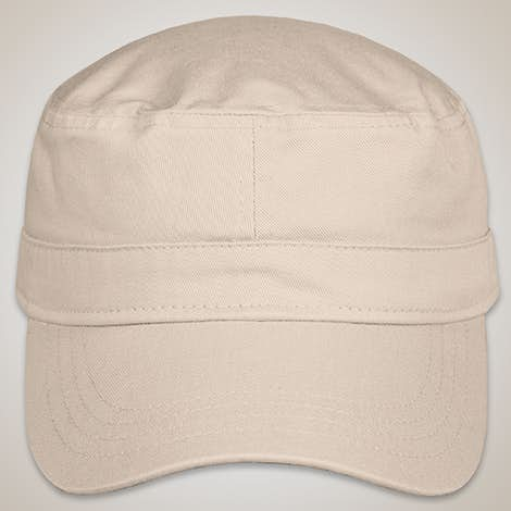 Valucap Bio-Washed Military Hat - Stone