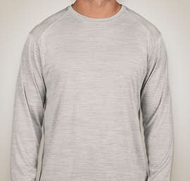 Augusta Tonal Heather Long Sleeve Performance Shirt - Color: Silver