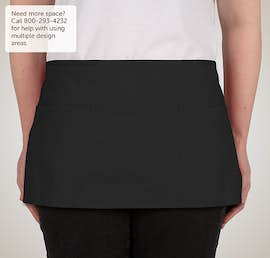 Stain Release Waist Apron - Screen Printed - Color: Black