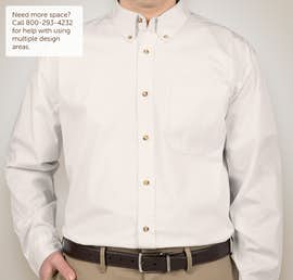 Featherlite Stain Resistant Twill Shirt - Color: Arctic White / Stone