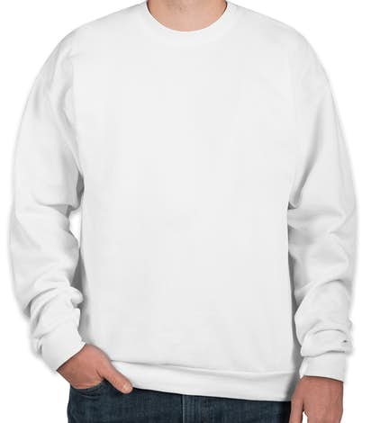 Hanes EcoSmart® 50/50 Crewneck Sweatshirt - White