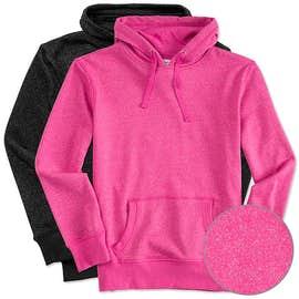 J. America Ladies Glitter Pullover Hoodie