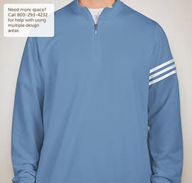 Adidas ClimaLite Quarter Zip Performance Pullover - Color: Oasis / White