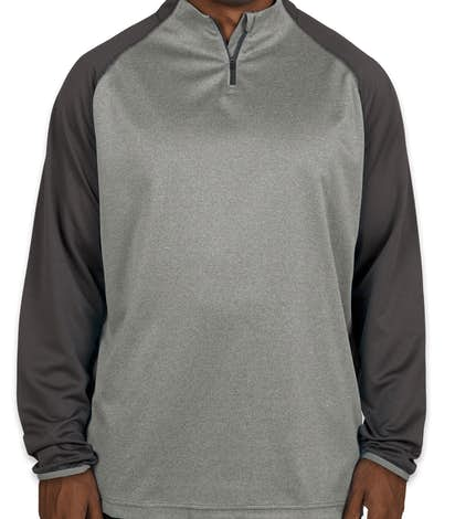 Augusta Reflective Quarter Zip Performance Shirt - Slate / Graphite Heather