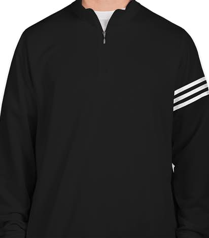 Adidas ClimaLite Quarter Zip Performance Pullover - Black / White