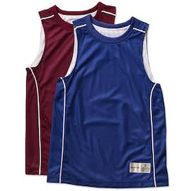 Sport-Tek Youth Micro-Mesh Reversible Sleeveless Jersey