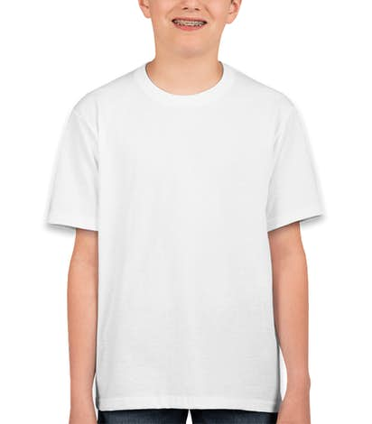 Canada - Fruit of the Loom Youth 100% Cotton T-shirt - White