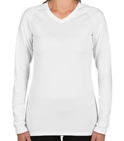 Augusta Juniors Long Sleeve Volleyball Jersey - White