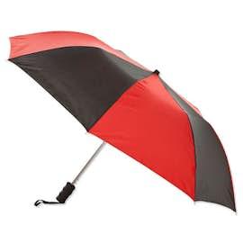 """Arc Auto Open Multi-Tone Telescopic Folding 44"""" Umbrella"""