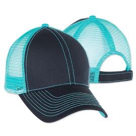Mega Cap Contrast Stitch Trucker Hat