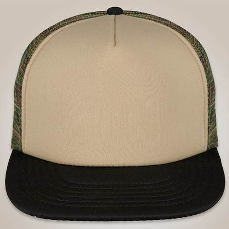 District Camo Flat Bill Snapback Hat - Military Camo
