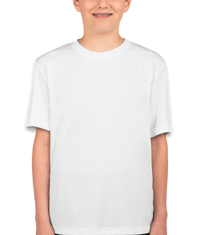 Hanes Youth Cool Dri Performance Shirt - White