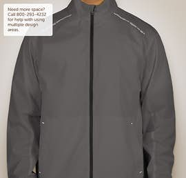 Port Authority Reflective Running Full Zip Jacket - Color: Grey Steel / Deep Black
