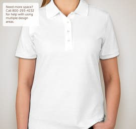 Jerzees Ladies Spotshield 50/50 Jersey Polo - Color: White