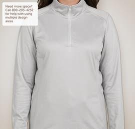 The North Face Ladies Tech Quarter Zip Fleece Pullover - Color: Light Grey Heather