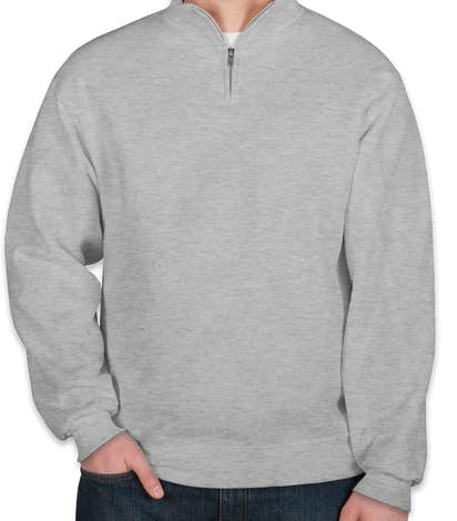 Jerzees Lightweight Quarter Zip Sweatshirt - Ash