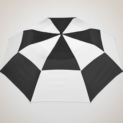 "Vitronic Multi-Tone Auto Open Vented 44"" Umbrella - Black / White"