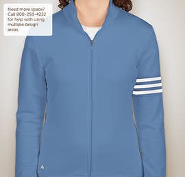 Adidas Ladies ClimaLite Full Zip Performance Sweatshirt - Color: Oasis / White