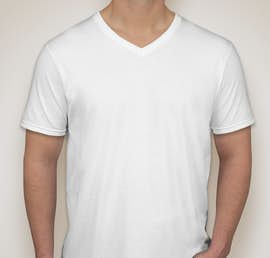 Canada - Gildan Softstyle Jersey V-Neck T-shirt - Color: White