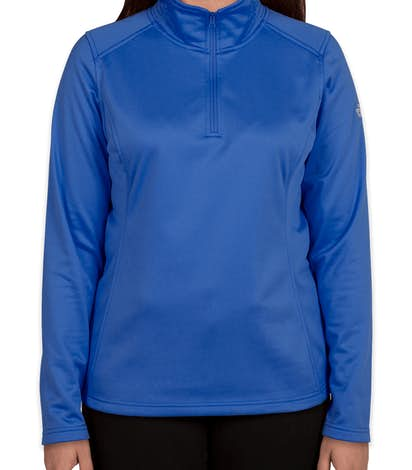 The North Face Ladies Tech Quarter Zip Fleece Pullover - Monster Blue