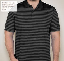 Limited Edition Nike Victory Stripe Performance Polo - Color: Black / Anthracite