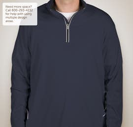 Ultra Club Lightweight Quarter Zip Performance Pullover - Color: Navy