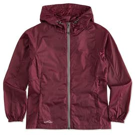 Eddie Bauer Ladies Full Zip Hooded Packable Jacket