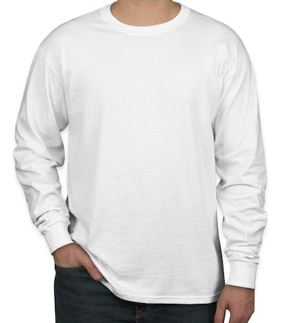 Canada - Jerzees 100% Cotton Long Sleeve T-shirt - White