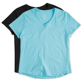 Hanes Ladies Just My Size Plus V-Neck T-shirt