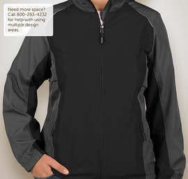 Core 365 Ladies Colorblock Lightweight Full Zip Jacket - Color: Black / Carbon