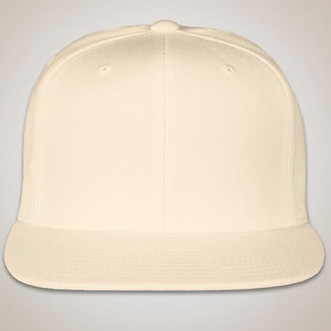 Yupoong Flat Bill Snapback Hat - Natural