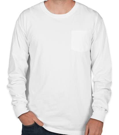 Comfort Colors Long Sleeve Pocket T-Shirt - White