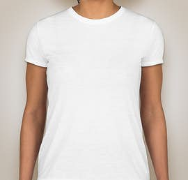 Gildan Ladies Soft Jersey Performance Shirt - Color: White