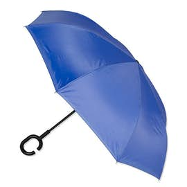 "48"" Inverted Double Layer Umbrella with C Handle"