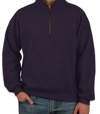 Gildan Vintage Quarter Zip Sweatshirt - Blackberry