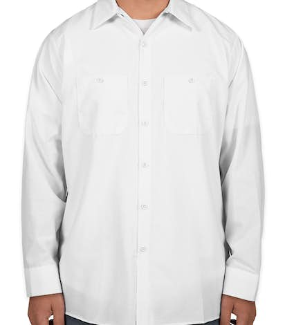 Red Kap® Long Sleeve Industrial Work Shirt - White