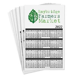 Full Color Calendar Magnet - .019""